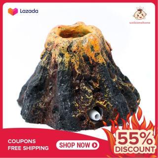Núi lửa trang trí bể cá cảnh thumbnail