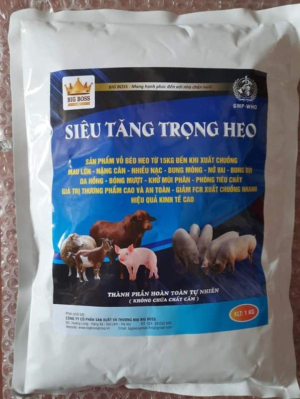 SIÊU TĂNG TRỌNG HEO 1kg/gói