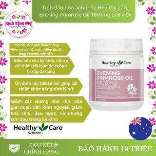 Tinh dầu hoa anh thảo Healthy Care Evening Primrose Oil 1000mg 200 viên - Ổn định nội tiết tố nữ, giúp cải thiện chức năng sinh lý nữ , Giảm các chứng khó chịu của giai đoạn tiền kinh nguyệt, giảm khó chịu, đau ngực thumbnail