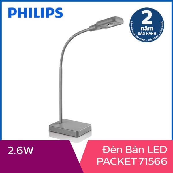 Đèn bàn Philips LED PACKET 71566 2.6W (Xám)