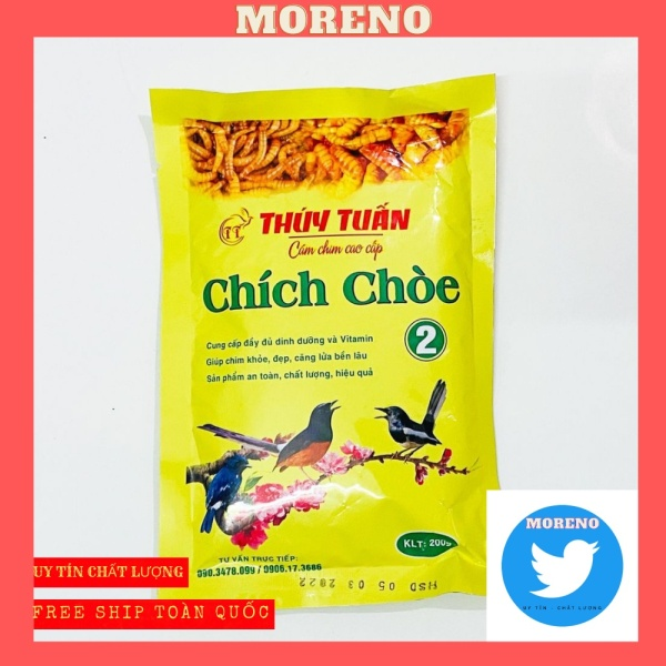 Cám chim chích chòe Thúy Tuấn số 2 cao cấp 200gram MORENO - Cám chòe Thúy Tuấn cao cấp giá rẻ