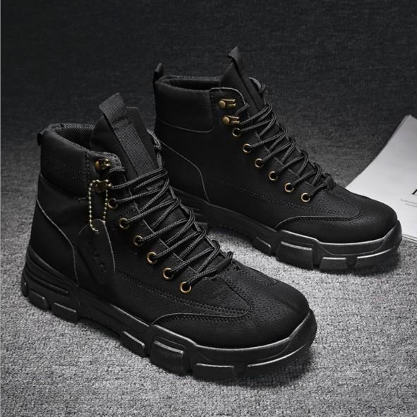 Giày cao cổ nam Fashion da cao cấp đế khâu kiểu dáng bụi bặm đường phố giá rẻ