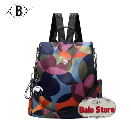 Balo nữ vải dù chống thấm nước balo túi xách đa năng kiểu dáng thời trang Hàn Quốc DBN205LA - Thương hiệu BALO STORE