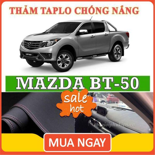 Thảm taplo MAZDA BT50 da vân carbon, chống nóng cho ô tô hiệu quả