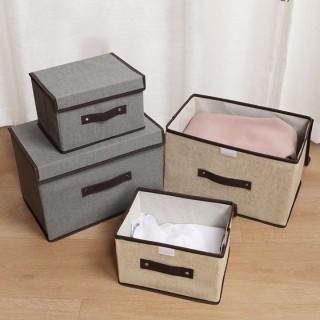 Combo 2 hộp vải đựng quần áo đồ lót , vật dụng trong gia đình, có thể gấp gọn siêu tiện lợi, giúp bạn cất gọn đồ đạc, tiết kiệm không gian thumbnail