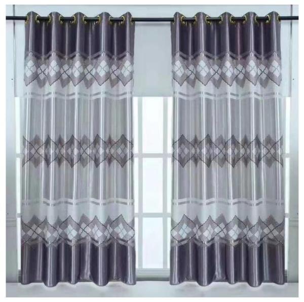 Rèm vải dày cao cấp ( có sẵn khoen tròn ) cao 2m - ô kẻ châu âu #11 nhaxinhnhadep (Mới)