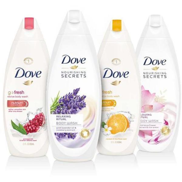 2 chai Sữa tắm DOVE nhập khẩu từ ĐỨC - 500ml/chai - Được lựa chọn mùi