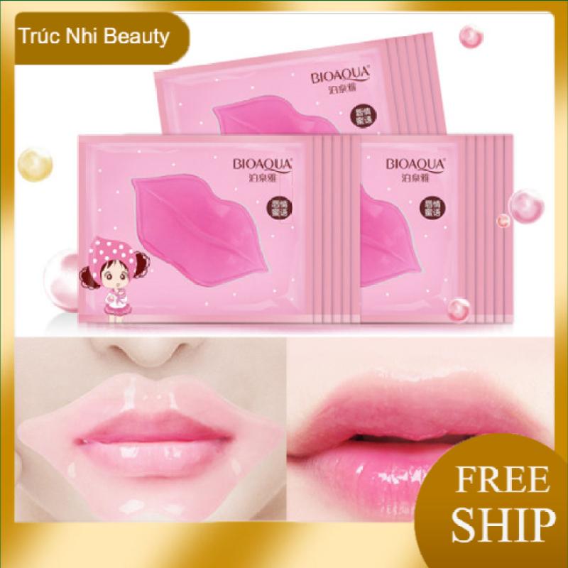 COMBO 5 Mặt nạ dưỡng môi collagen BIOAQUA 🔥𝑭𝑹𝑬𝑬𝑺𝑯𝑰𝑷🔥 giảm thâm, làm mềm, dưỡng ẩm môi , Mặt nạ môi Dưỡng môi thâm . Truc nhi Beauty
