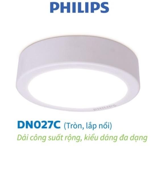 Bộ Đèn Philips LED Ốp Trần tròn lắp nổi DN027C- Công suất (11W, 15W, 18W, 23W)
