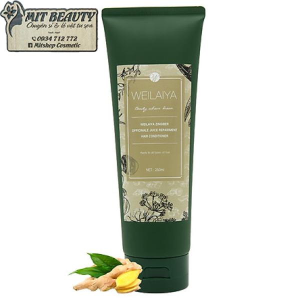 dầu xả 250ml Weilaiya tem Xám Hà thủ ô tinh chất gừng hỗ trợ mọc tóc và chống rụng tóc mẫu mới cao cấp