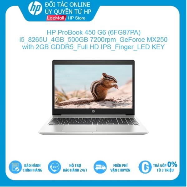 Bảng giá [Voucher giảm 15%, Tặng Office 365] LapTop HP ProBook 450 G6 - 6FG97PA  Core i5-8265U  4GB  500GB 7200rpm  VGA MX250 2GB  Full HD IPS  FreeDos Hàng Chính Hãng Phong Vũ