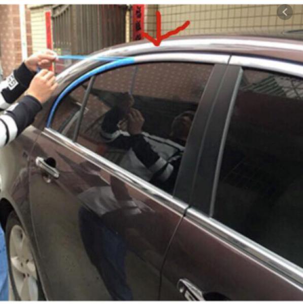 Nẹp viền trang trí chân kính ô tô Loại 1 bọc xanh sáng bóng keo chắc, xe hơi rộng 15mm dài 15m