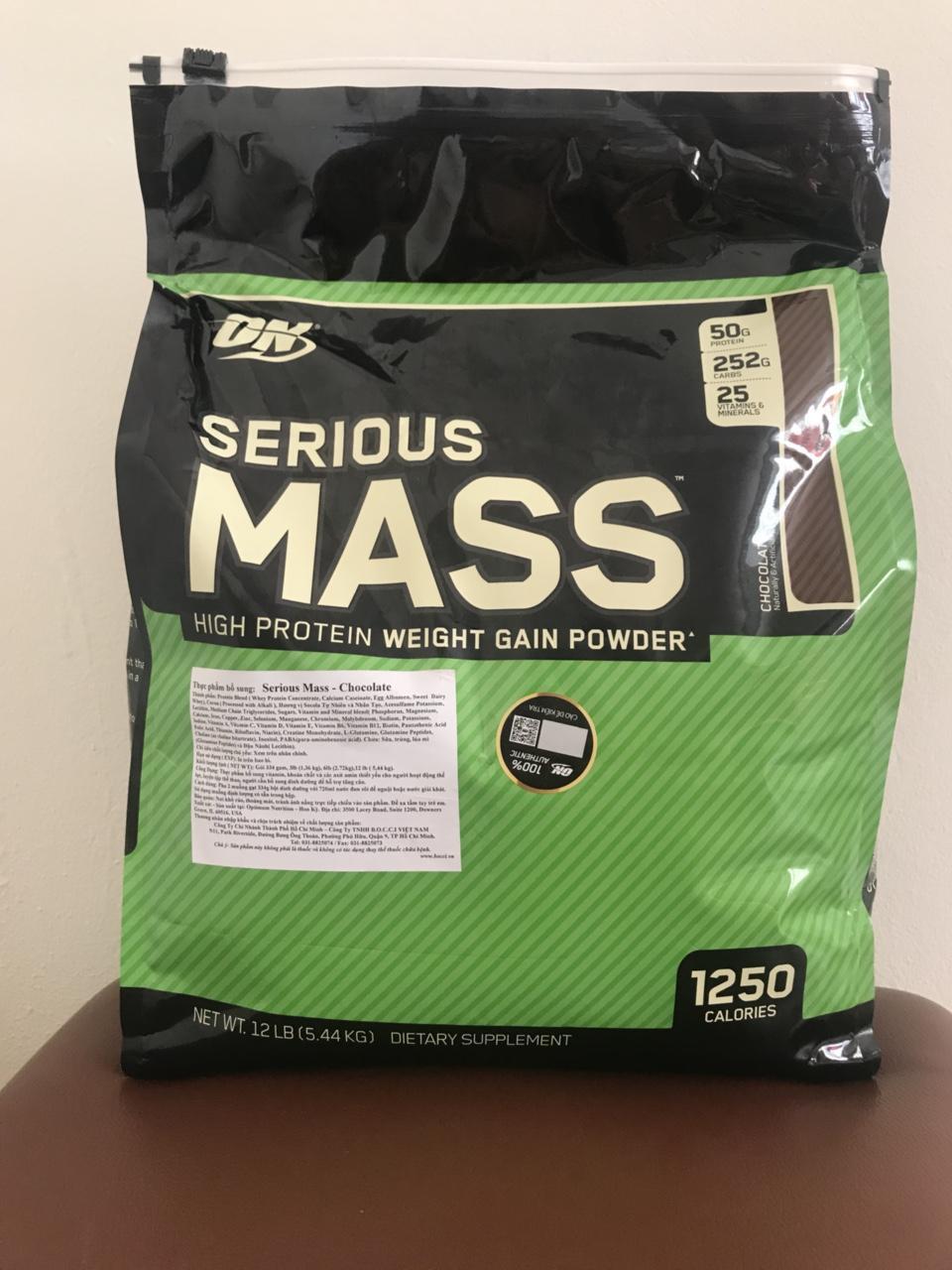 Sữa Dinh Dưỡng Tăng Cân Cho Người Gầy Serious Mass 12lbs 5,6 kg nhập khẩu