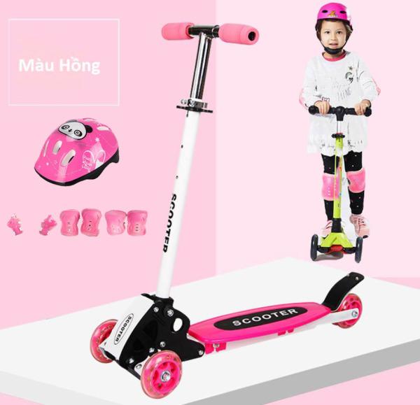Mua Xe Trượt Scooter Trẻ Em 3 Bánh Mẫu Mới + Tặng Kèm Bộ Bảo Hộ (Chân Tay Và Mũ Bảo Hiểm)