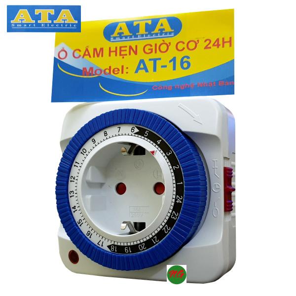 Ổ cắm hẹn giờ cơ ATA AT-16 - timer hẹn giờ cơ - hẹn giờ tắt mở điện