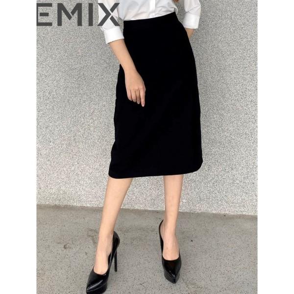 Chân váy chữ a dài 70cm qua gối EMIX