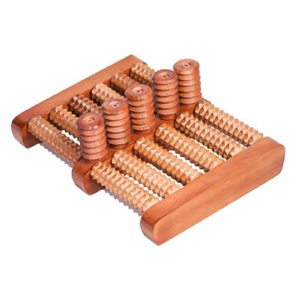 Bàn lăn massage chân 5X6 bằng gỗ