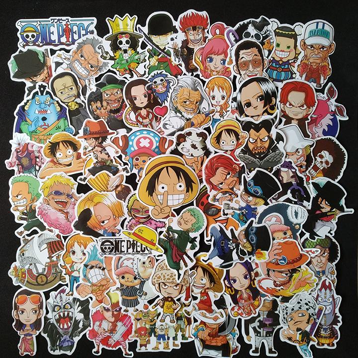 Bộ Sticker dán cao cấp chủ đề ONE PIECE - LUFFY - Dùng dán Xe, dán mũ bảo hiểm, dán Laptop...