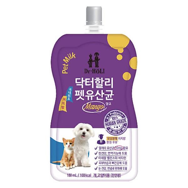 Sữa nước cho chó mèo bổ sung men tiêu hóa Dr. Holi pet milk Probiotics 200ml