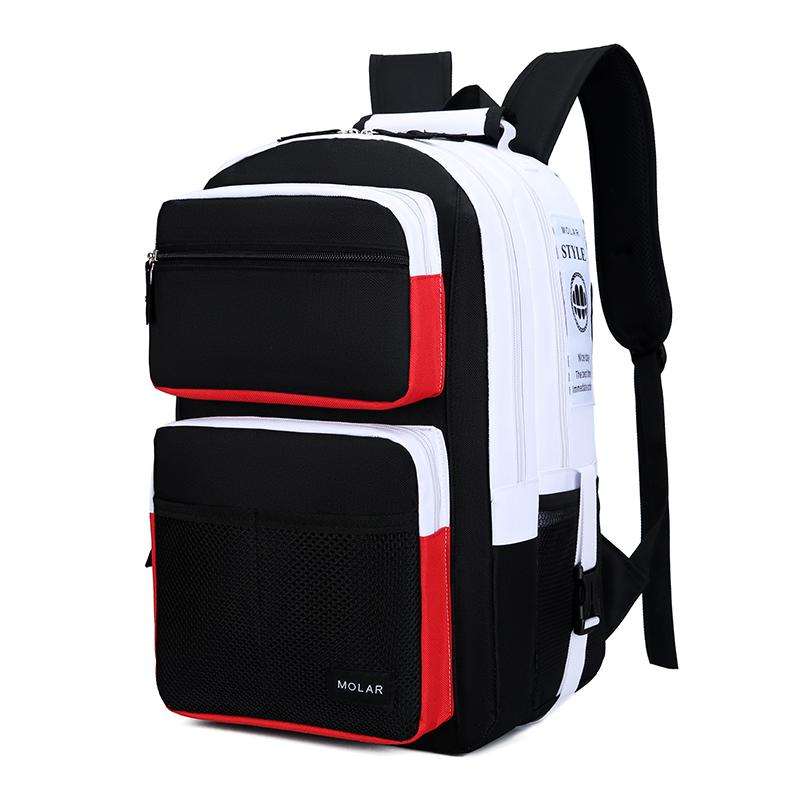 School Bag Male High School College Student Casual Backpack Large Capacity Junior High School Fashion Korean Style INS Wind Backpack Female
