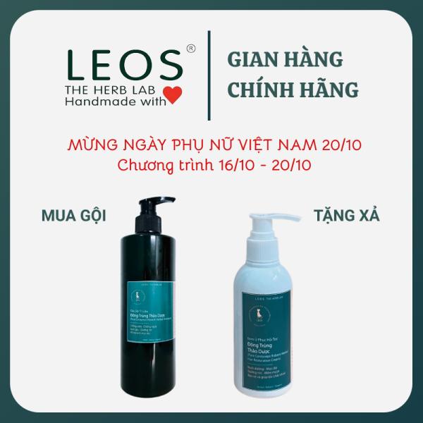 [HCM]Dầu Gội Đông Trùng Thảo Dược kích mọc tóc nhanh giảm rụng giảm gàu hiệu quả 500ml - HANDMADE by LEOS - The Herb Lab giá rẻ