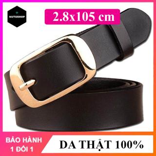 Thắt lưng nữ, dây nịt dây lưng nữ hàng cao cấp chất liệu da thật bản rộng 2.8cm dễ phối hợp với quần jean, váy, đầm phù hợp với mọi vòng eo NT141 thumbnail