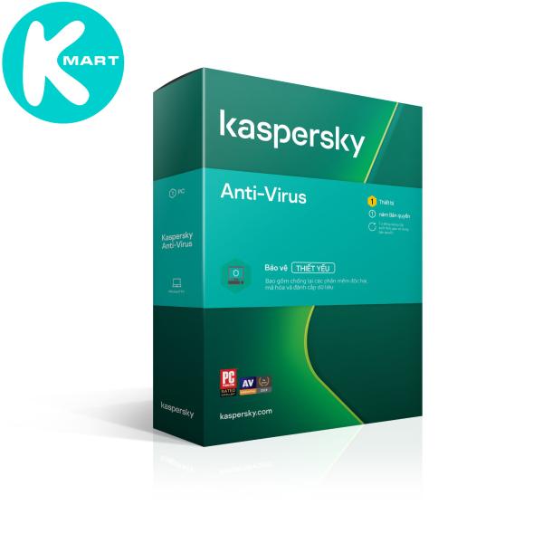 Bảng giá Phần mềm diệt Virus Kaspersky Antivirus 1PC máy tính - Hàng Chính Hãng Phong Vũ