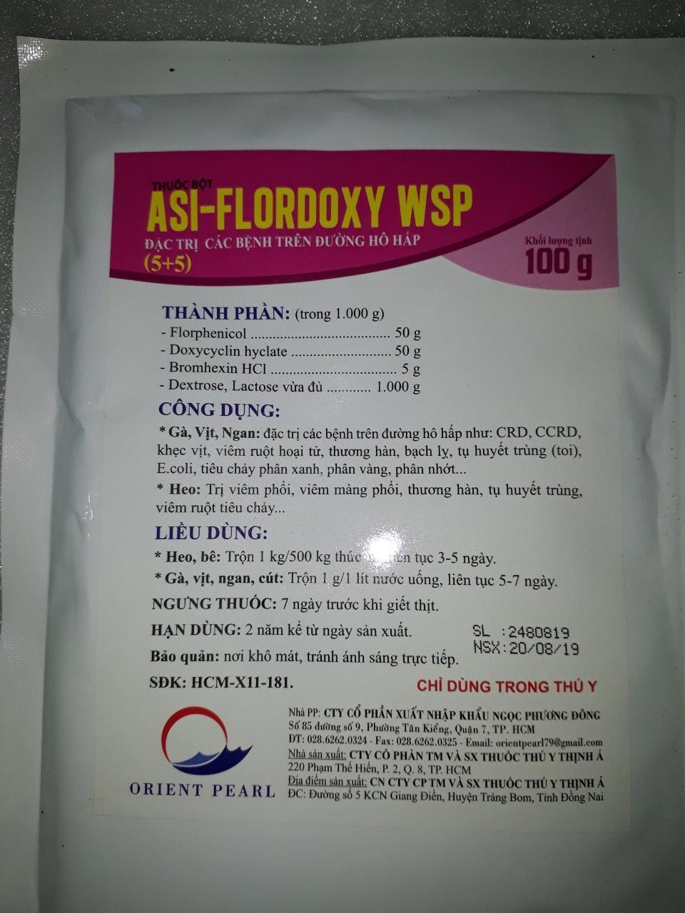 FLORDOXY WSP 100G PHÒNG TRỊ CRD , CCRD, TỤ HUYẾT TRÙNG, THƯƠNG HÀN Siêu Khuyến Mại