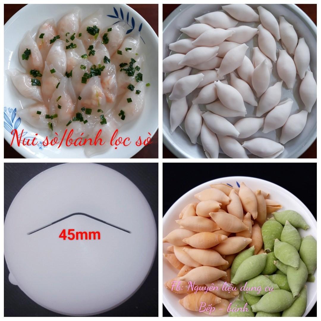 Khuôn nui sò to trơn, bánh lọc sò dùng cho máy làm mì Philips