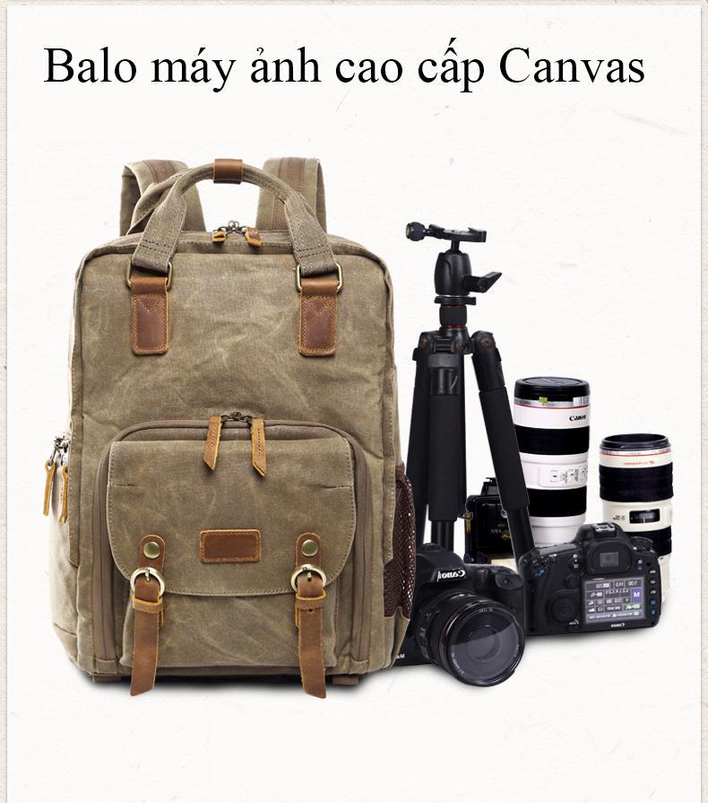 Hình ảnh Balo máy ảnh cao cấp Canvas half photo