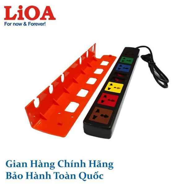 Ổ cắm điện LiOA có gá đỡ 6 ổ cắm, 2 công tắc, 1 mét 6D12NG 6D12NWG