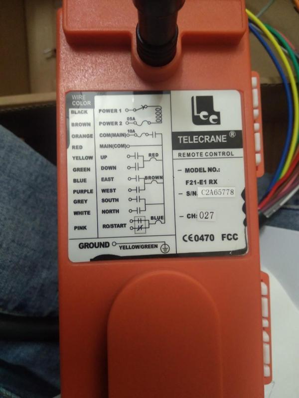Bộ điều khiển cần trục F21E1B Bộ điều khiển cẩu trục cầu trục tay cẩu F21-E1B Telecrane 220V và 380V