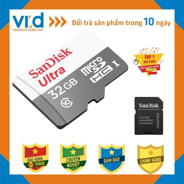 Thẻ Nhớ MicroSDHC SanDisk Ultra 32GB Upto 100MB/S 667x - Bảo hành 5 năm