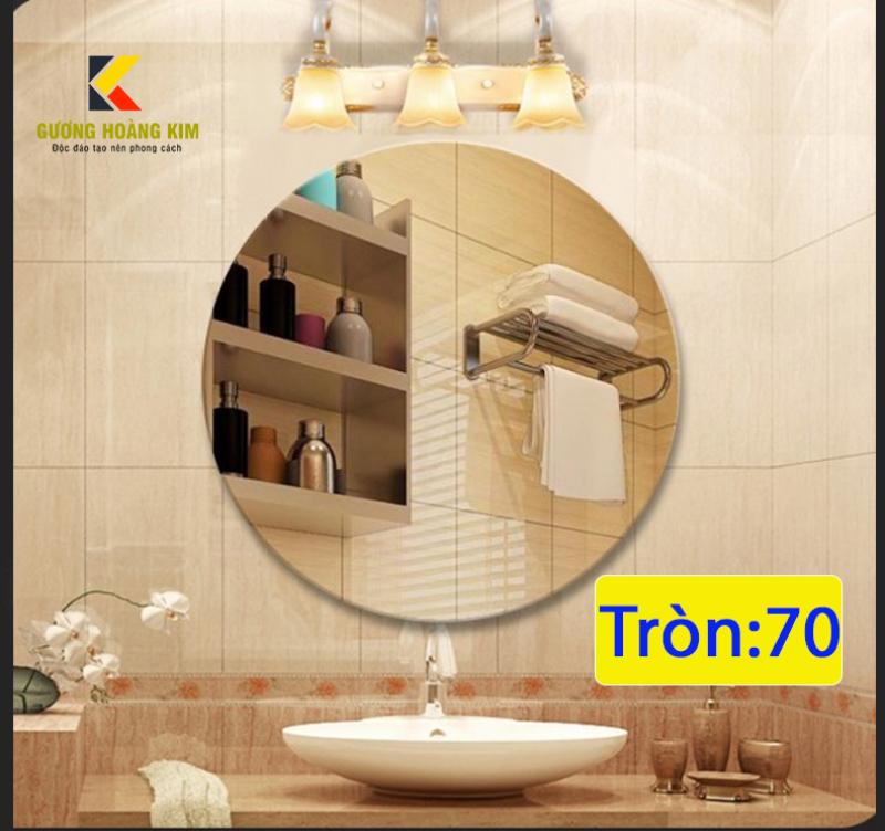 Gương soi trang điểm nhà tắm treo tường kích thước D70 - guonghoangkim - Mirror