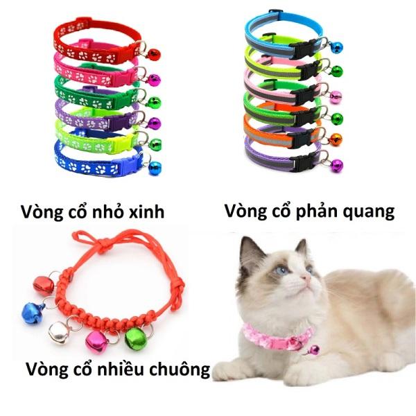 (3 loại) - Vòng cổ chó mèo cao cấp- dùng cho thú cưng từ 1- 5kg (chọn màu)