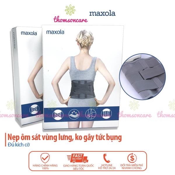 Đai lưng thoát vị đĩa đệm, cột sống, cải thiện thoái hóa, định hình cố định hỗ trợ lưng Maxola cho nam, nữ