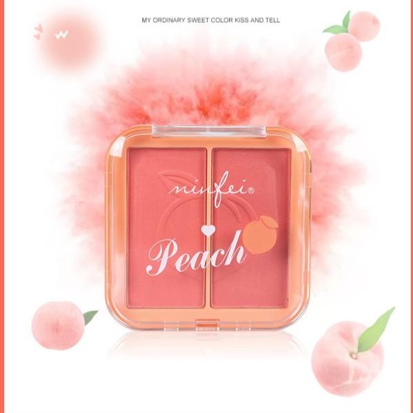 Phấn Má Hồng 2 Ngăn Minfei Peach Hàng Nội Địa Trung