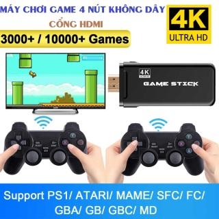 Máy Chơi Gamer 4 Nút Playstation 2 người chơi cổng HDMI 2 Tay Cầm Bluetooth 3000+ Trò PS1 MAME Game Cổ Điển FULL HD 4K ,Thẻ nhớ TF 32 Gb có thể sao chép game thumbnail