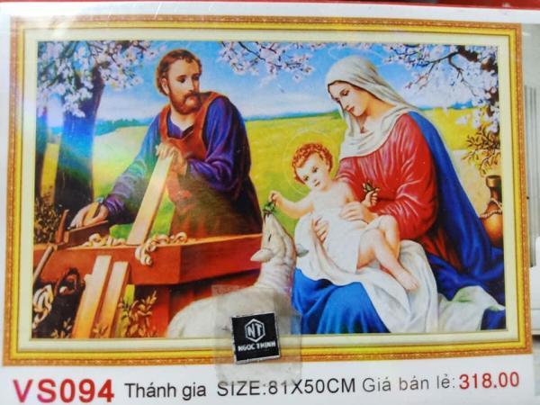 Tranh đính đá Gia Đình Chúa, ✅mã tranh VS094, ✅hãng tranh VENUS, ✅kích thước 81x50 cm