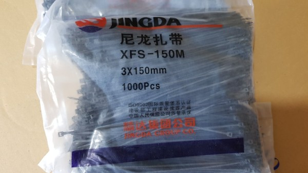 Gói 500 Sợi Dây Buộc Nhanh, Dây Thít Đen 3X150mm