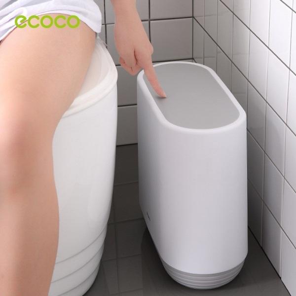 Thùng Rác Nhấn Nút Tiện Lợi Thông Minh ECOCO - Thùng Rác Chống Đổ Kín Mùi Cao Cấp