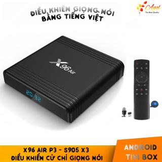 Tivi Box android X96 Air 4G Ram 32G Rom Amlogic S905X3 chuột bay giọng nói cài đặt sẵn bộ ứng dụng giải trí thumbnail
