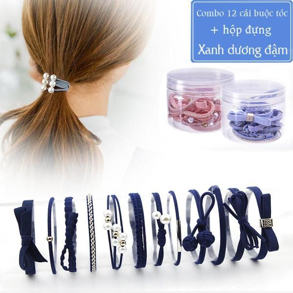Combo 12 dây cột tóc nhiều mẫu mã Giá sỉ Thời trang Hàn Quốc nơ ngọc trai hoa lá dễ thương Siêu rẻ xinh xắn Chất lượng cao cấp