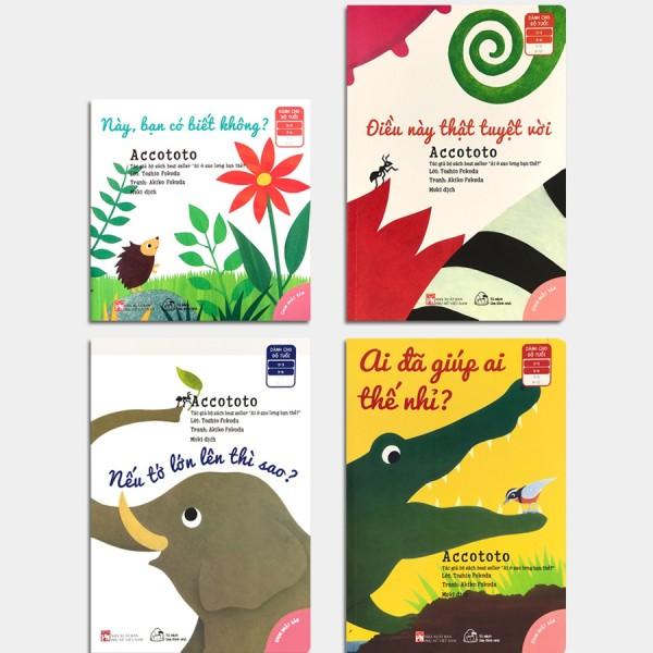 Sách - Ehon Accototo (0-6 tuổi) - Bộ 4 quyển MK-Monty