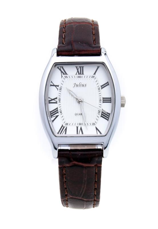 Đồng hồ nữ Julius Hàn Quốc JA-703LA dây da cổ điển (Nâu bạc)