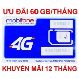 Sim 4G Mobifone, trọn gói 1 năm không nạp tiền, miễn phí nghe gọi, miễn phí 720Gb data. thumbnail