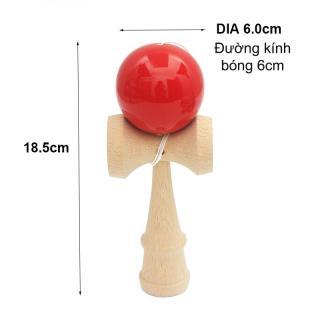 Đồ chơi tung hứng Kendama thông minh bằng gỗ tự nhiên DCG.KD6 (đường kính bóng D6cm) thumbnail