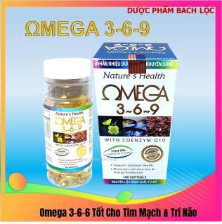 [hộp 100 viên] Viên dầu cá Ome.ga 369 Nature health Bổ não, sáng mắt, khỏe mạnh tim mạch, tăng cường trí nhớ - Hộp 100 viên thành phần dầu cá 1000mg, EPA 180mg, DHA 120mg thumbnail