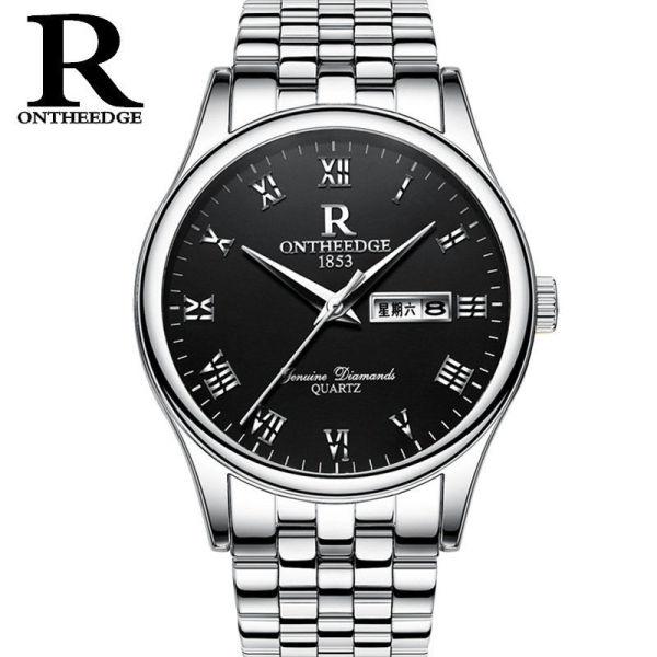 Ruizhiyuan Genuine Waterproof Business Refined Steel Belt Quartz Mens Watch Womens Watch Student Non-Mechanical Mens Watch