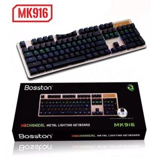 Sản phẩm KB Bosston MK 916 phím cơ led RGB chuyên game KB Bosston MK 916 phím cơ led RGB chuyên Game USB Phím Cơ Led RGB Chuyên Game MK-916 (Chính Hãng) KB Bosston M K 916 phím cơ led RGB chuyên Game USB ... thumbnail